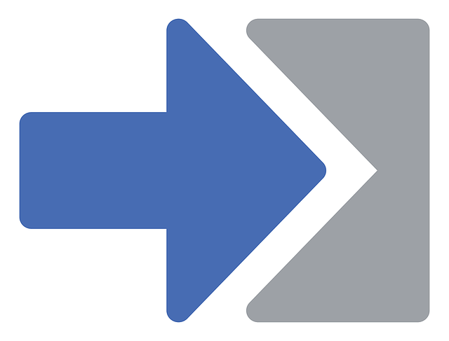 Free Vector Graphic Arrow Exit Right Blue Icon Free