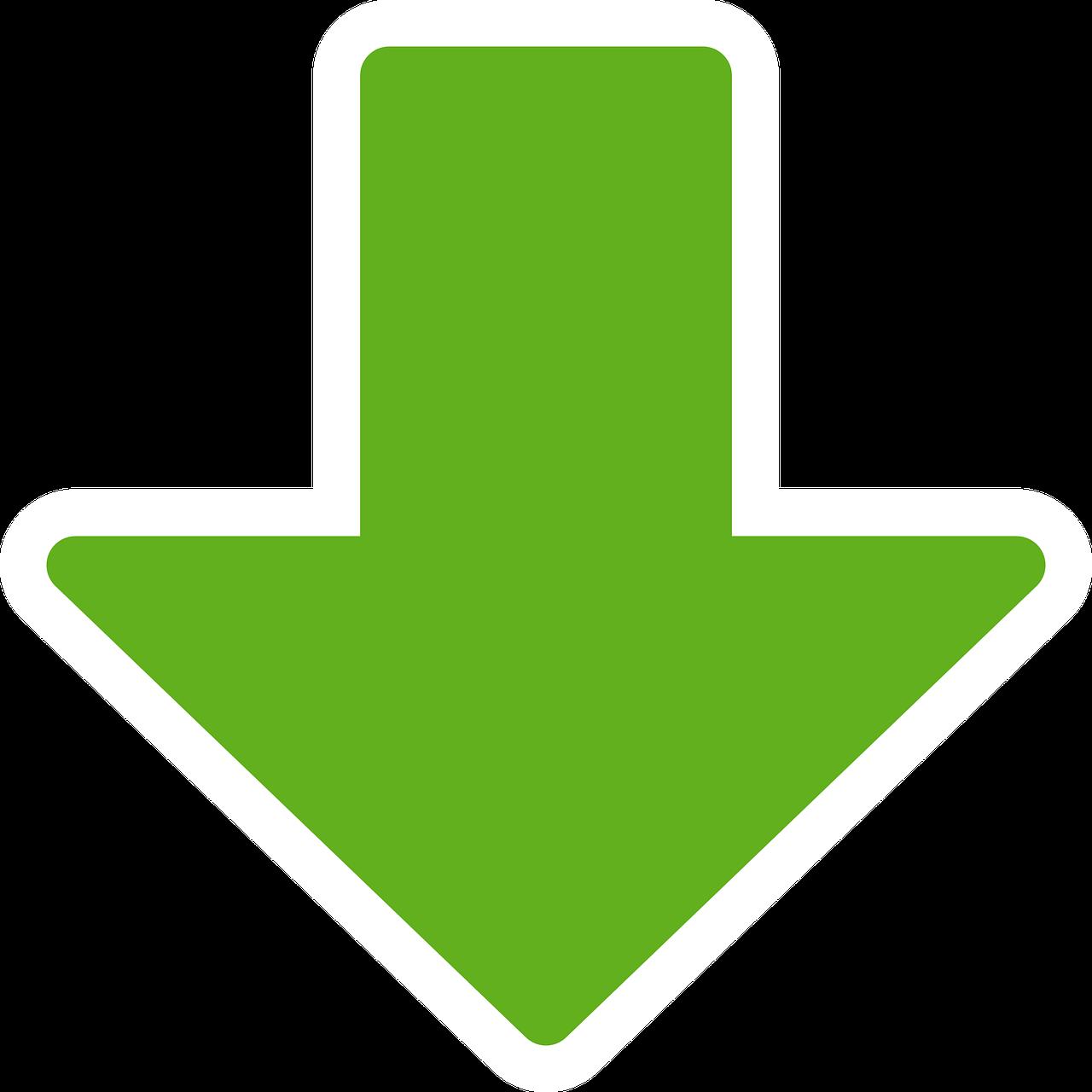 Стрелка вниз зеленая картинка