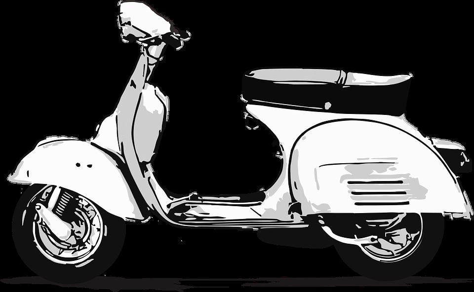 Vespa Scooter Outline