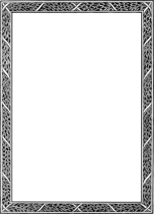 Art Nouveau Border Frame · Free vector graphic on Pixabay