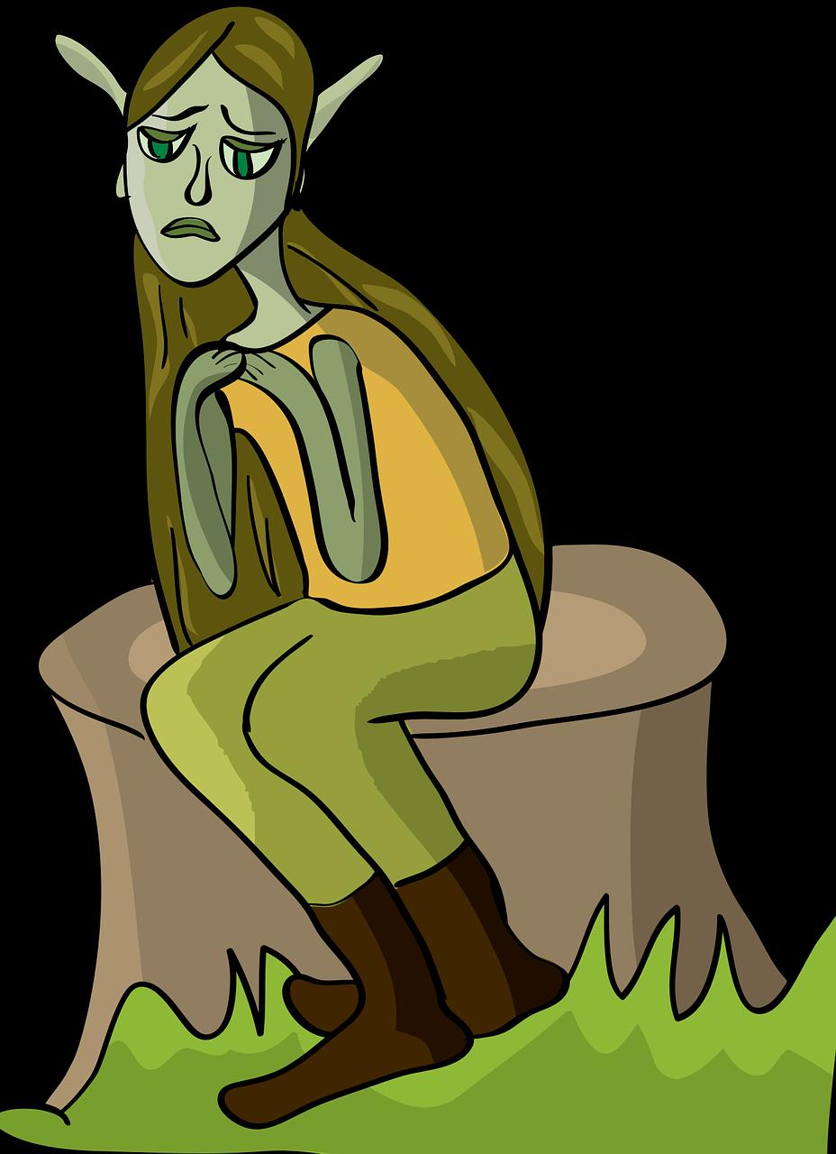 Cartoon Depression Elf Free Vector Graphic On Pixabay
