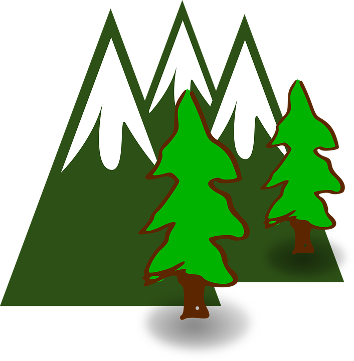 mountains trees forest free vector graphic on pixabay rh pixabay com forest clipart black and white forest clipart black and white