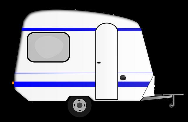 free vector graphic caravan vacations car trailer. Black Bedroom Furniture Sets. Home Design Ideas