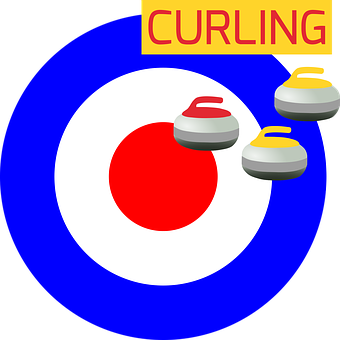 Curling, Ice, Icon, Olympics, Poster