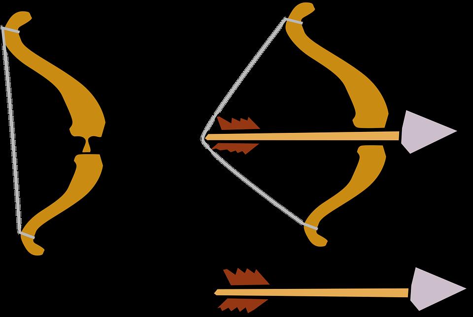 Archery bow and arrow clipart
