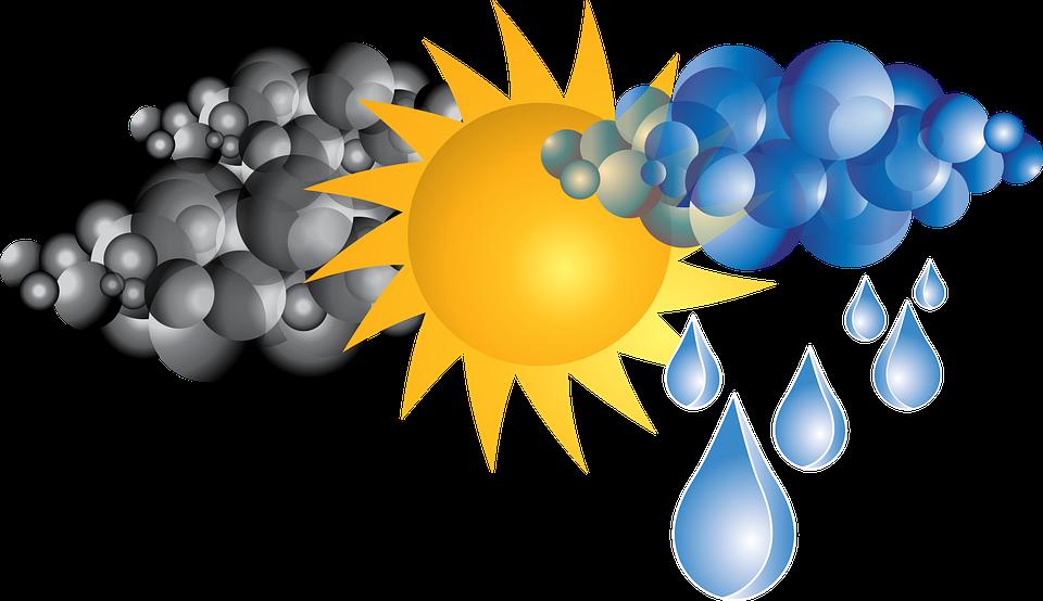 Cuaca Hujan Gambar Vektor Gratis Pixabay Awan Matahari Kartun
