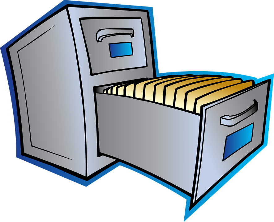 Cabinet Data File · Free vector graphic on Pixabay