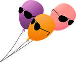 balloon, balloons, birthday