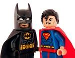 batman, superman, lego