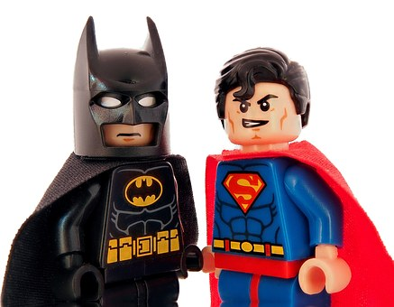 Batman, Superman, Lego, Superhero, Hero