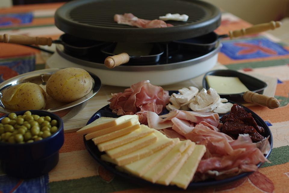 Raclette, Nourriture, Jambon, Fromage