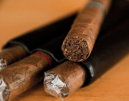 Cigar, Tobacco, Havana, Smoke, Case