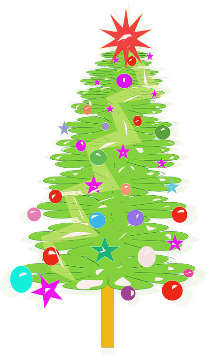 Arvore De Natal Desenhos Animados Grafico Vetorial Gratis No Pixabay
