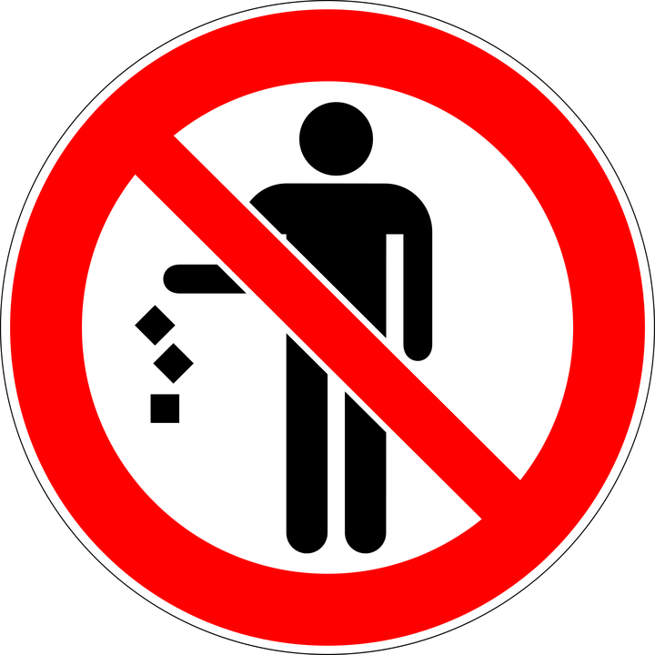 Trash Prohibited No Free Vector Graphic On Pixabay