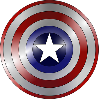 Captain America Comic Book Concentric Grad