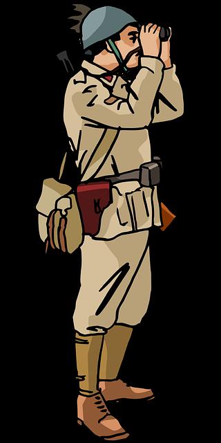 Army Binoculars Desert Uniform Free Vector Graphic On
