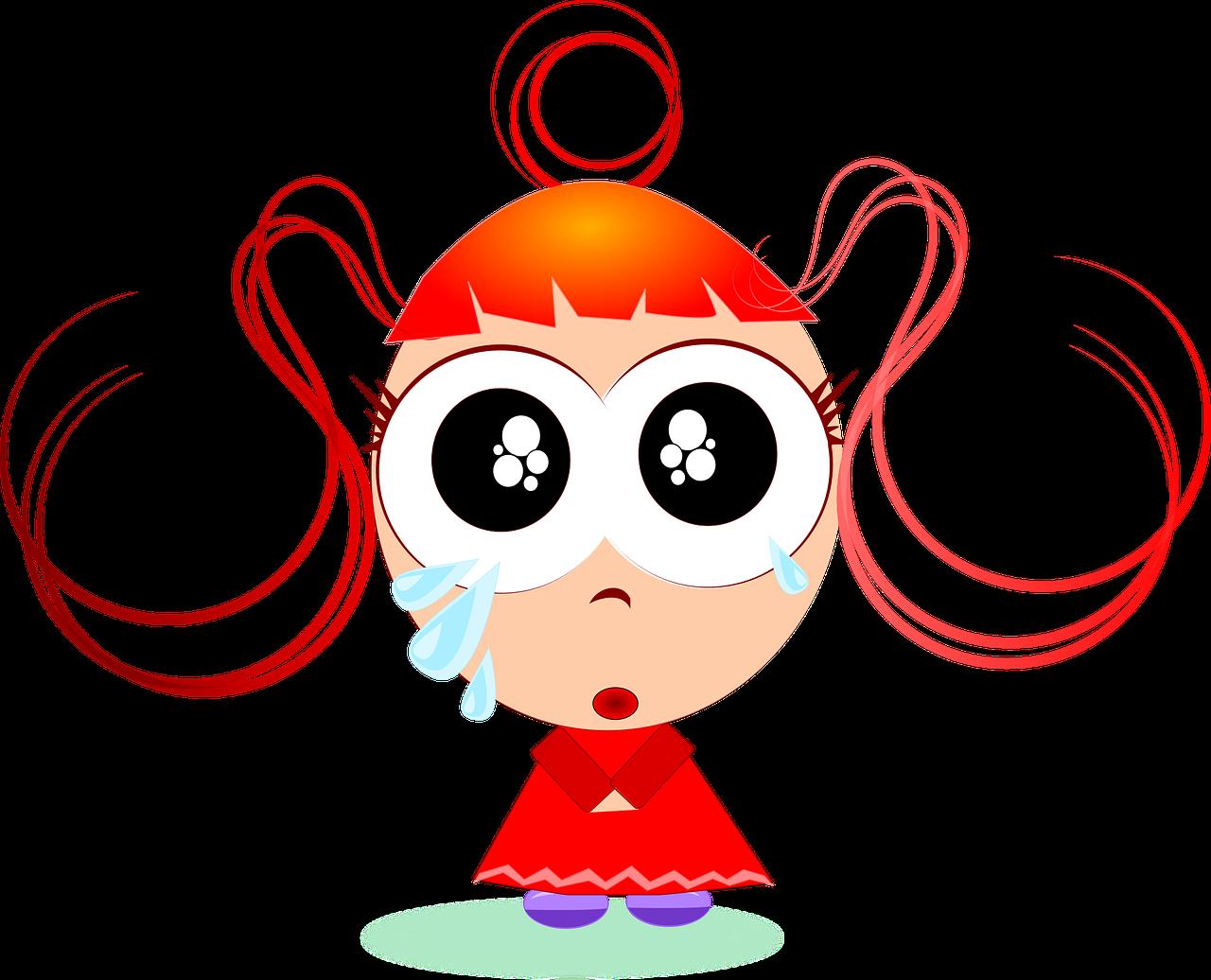 Gadis Sedih Kartun Gambar Vektor Gratis Di Pixabay