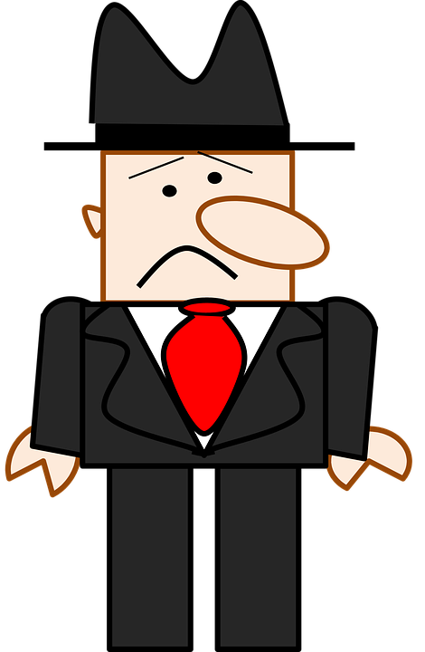 Black Cartoon Man Sad Free Vector Graphic On Pixabay