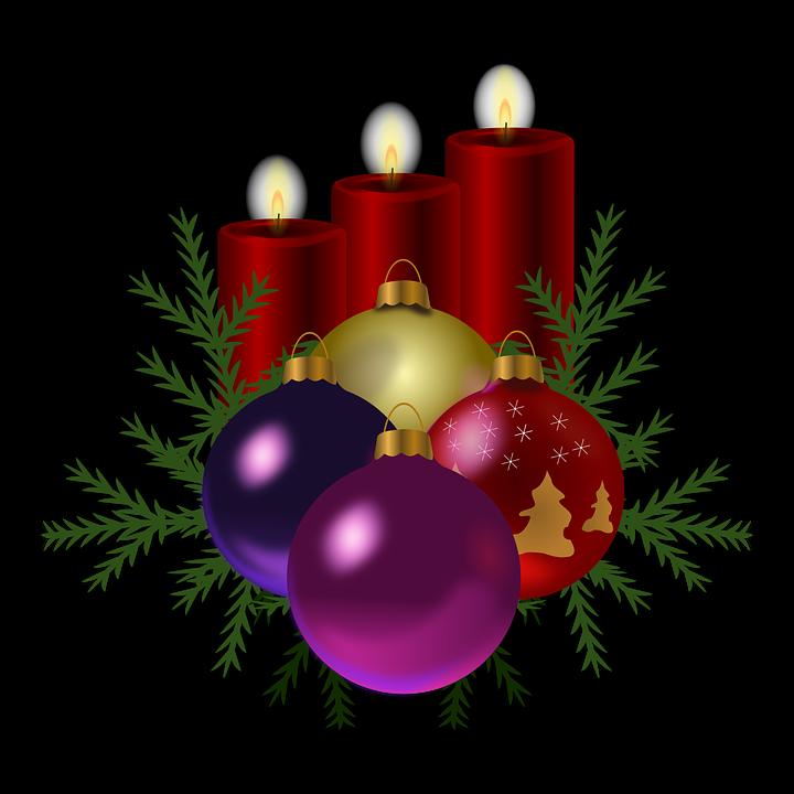 Lilin Pohon Natal Dekorasi Gambar Vektor Gratis Di Pixabay