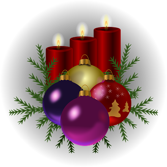 Candles, Christmas Tree, Decorations