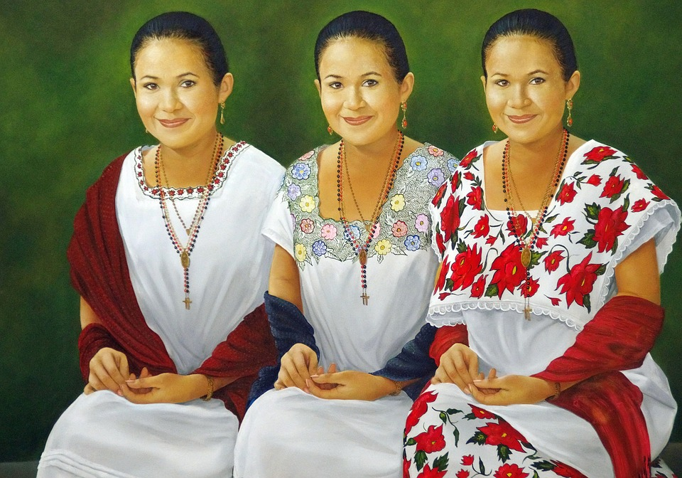 Palenque, Table, Painting, Triplets, Costume