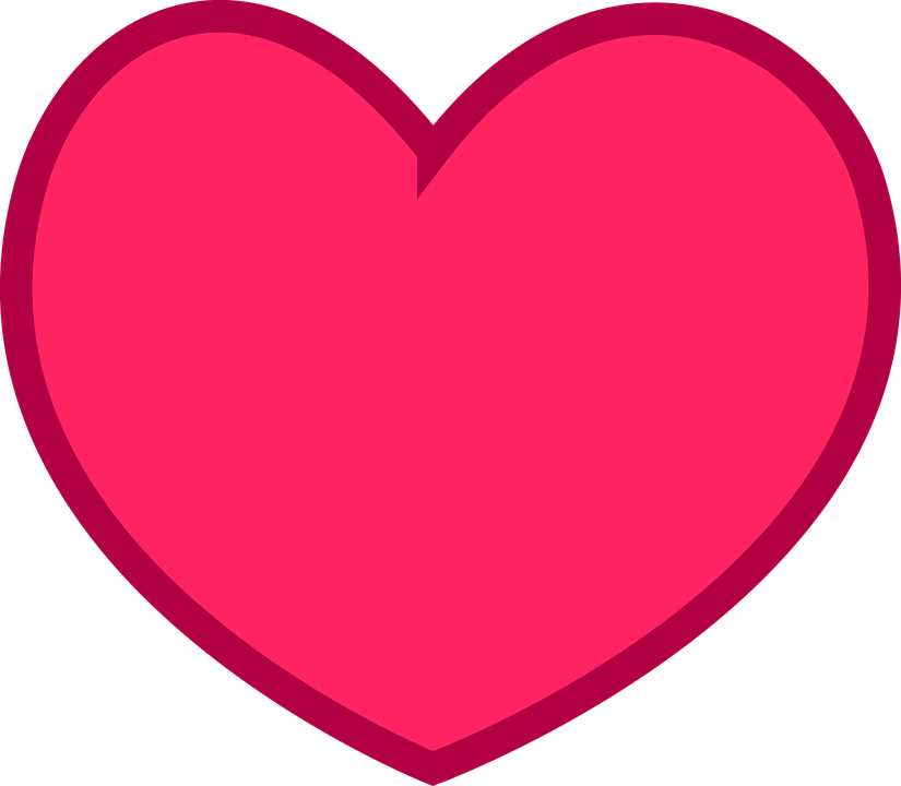 Download Free vector graphic: Flat, Heart, Love, Pink, Red - Free ...