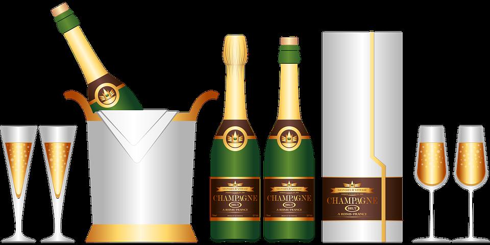 vector gratis champagne botella de champ n imagen gratis en pixabay 1294284. Black Bedroom Furniture Sets. Home Design Ideas