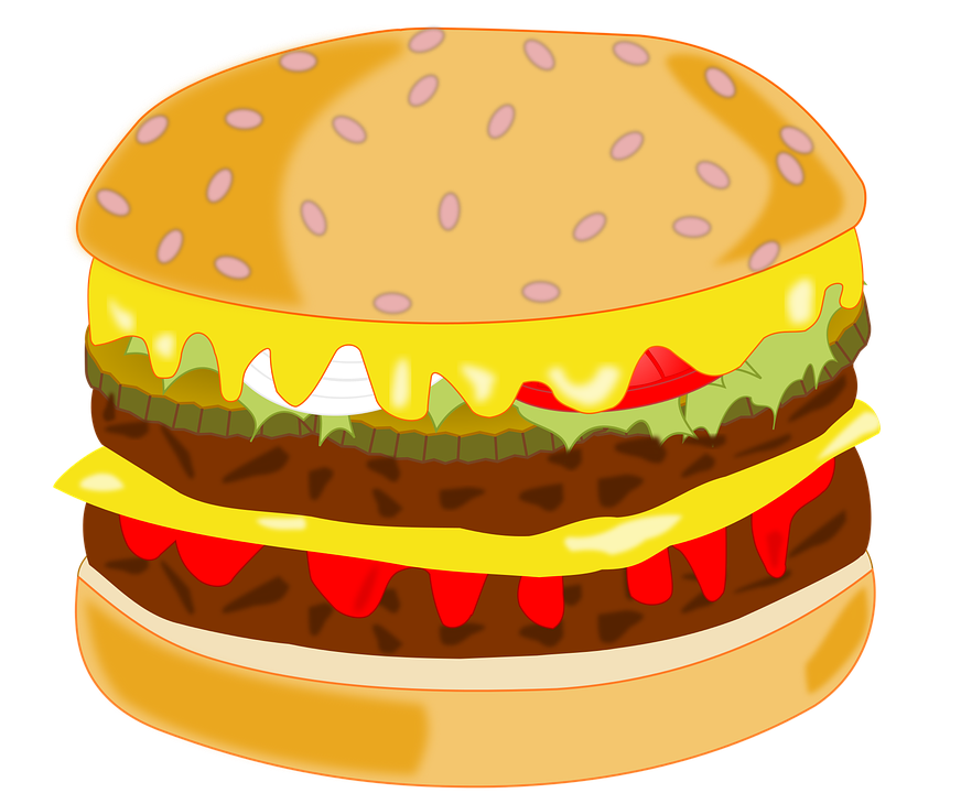 Free vector graphic: Hamburger, Food, Fast Food, Snack - Free ...
