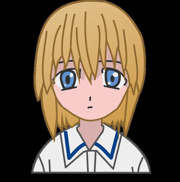Kartun Wajah Gadis Gambar Vektor Gratis Di Pixabay
