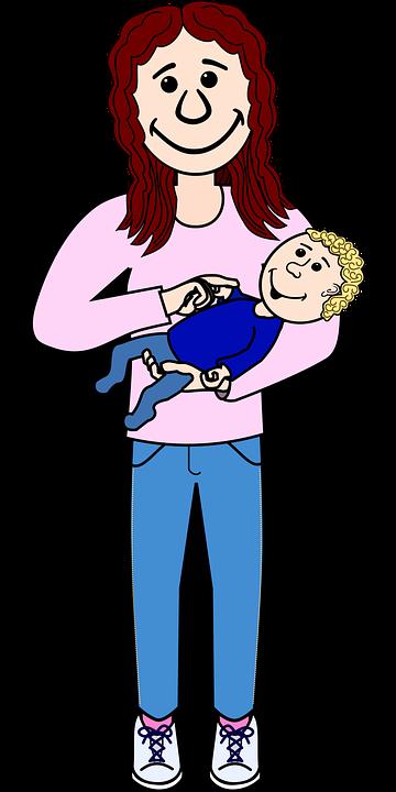 Free vector graphic: Baby, Child, Comic, Frau, Human