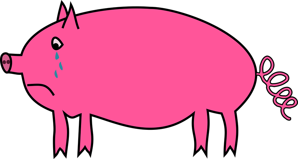 animal pig sad 183 free vector graphic on pixabay