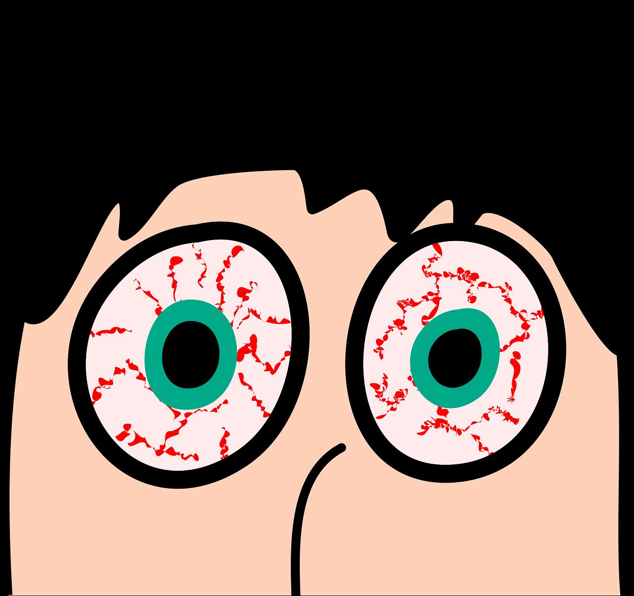 красный глаз смешная картинка девочки своих сюжетно-ролевых