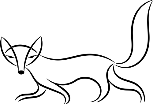Line Drawing Fox : Fox vector graphics · pixabay download free images