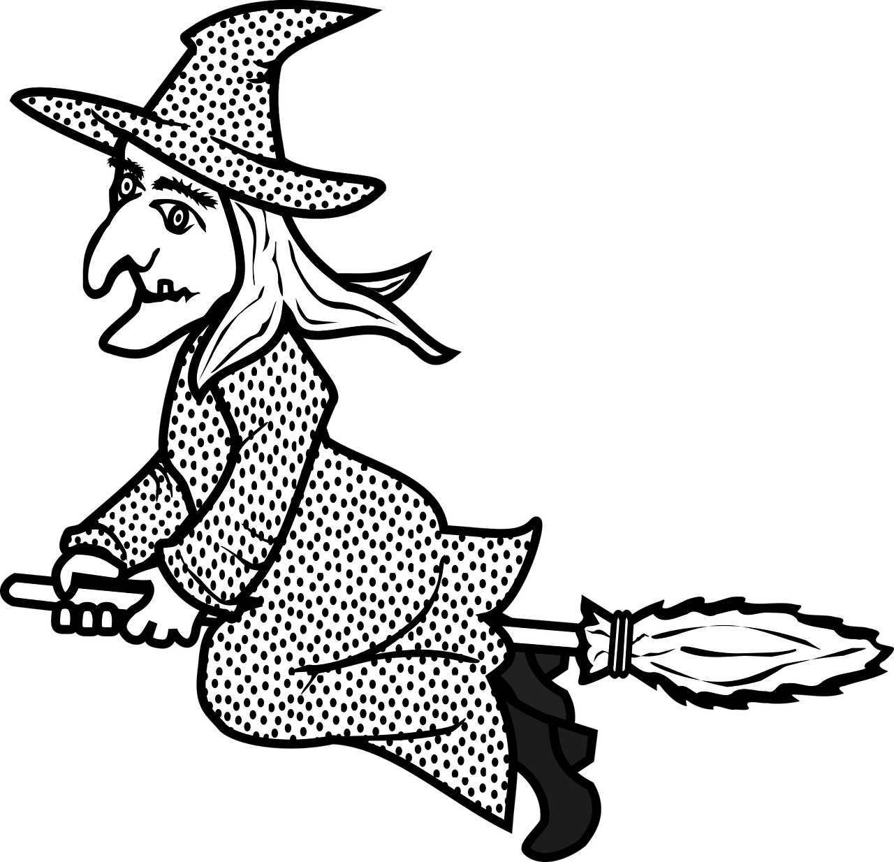 Картинка ведьма распечатать