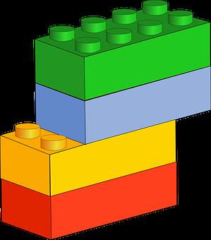Blocks Blue Bricks Building Green R
