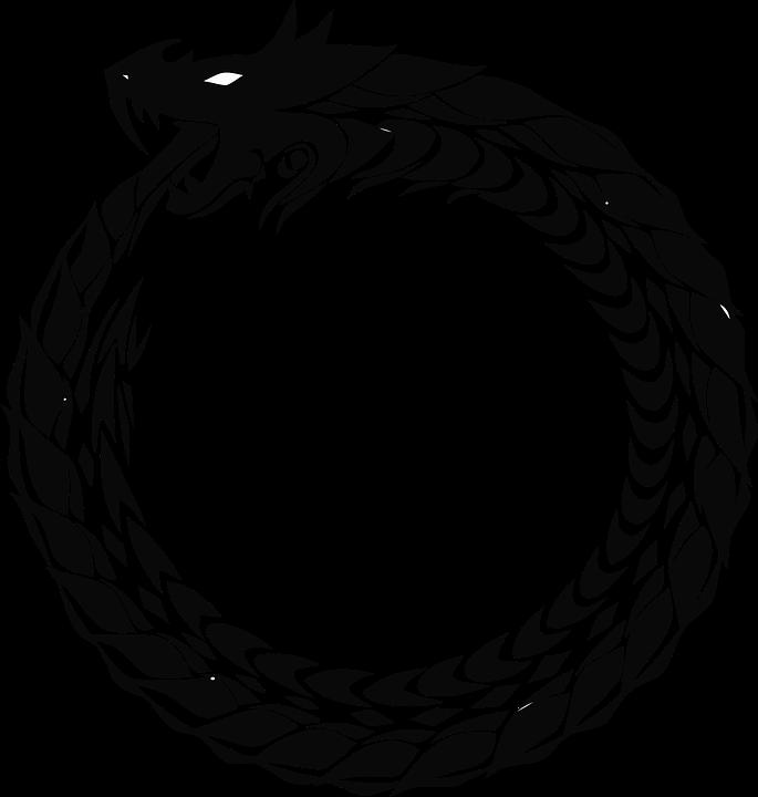 Icônes De Cercle, Dragon, Anneau, Serpent