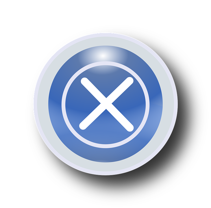 Free vector graphic: Exit, Off, Symbol, Icon, Button, X ...