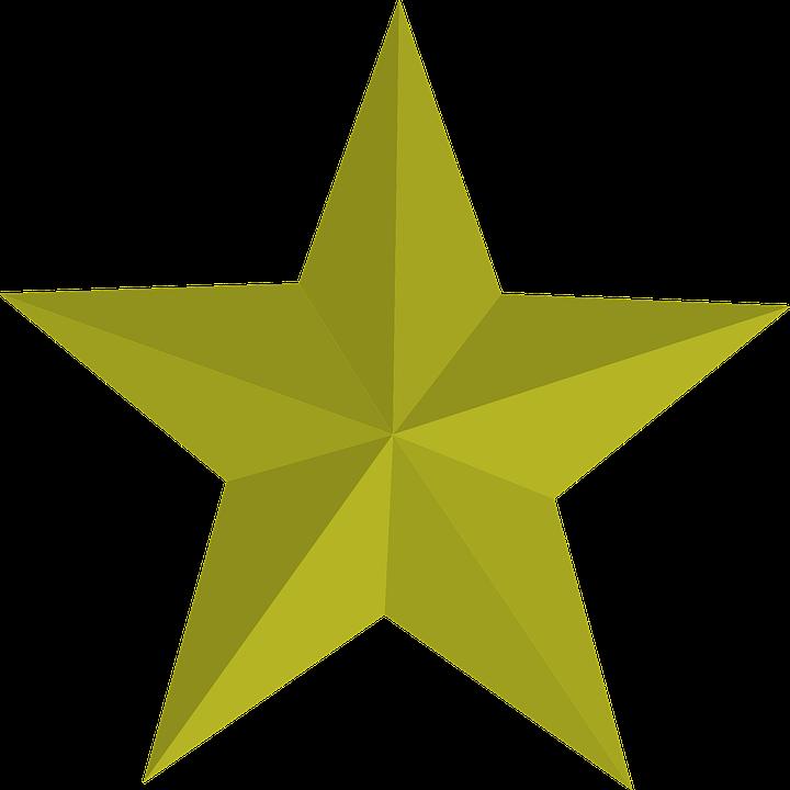 Fünf Fünfzackiger Stern Gold · Kostenlose Vektorgrafik auf Pixabay