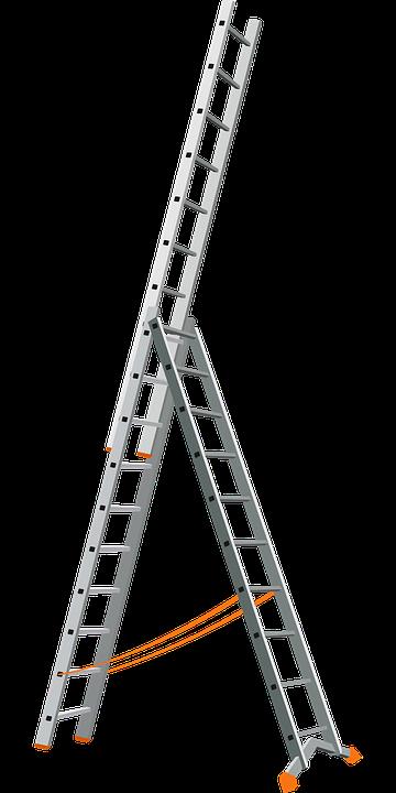 aluminio escalera metal herramienta trabajo