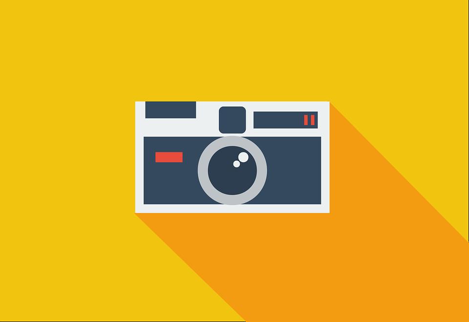 Camera, Flat, Kodak, Yellow Camera