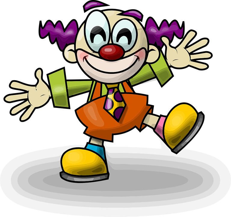 Clown, Crazy, Happy, Funny, Cartoon