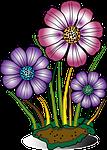 decorative, flower, flowers