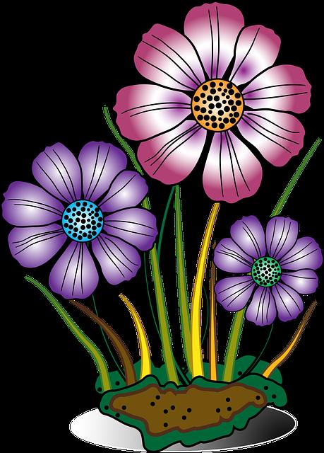 Free vector graphic: Decorative, Flower, Flowers, Grass ...