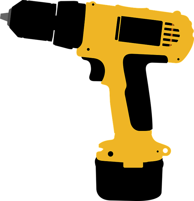 Free Vector Graphic Drill Electric Screwdriver Tool