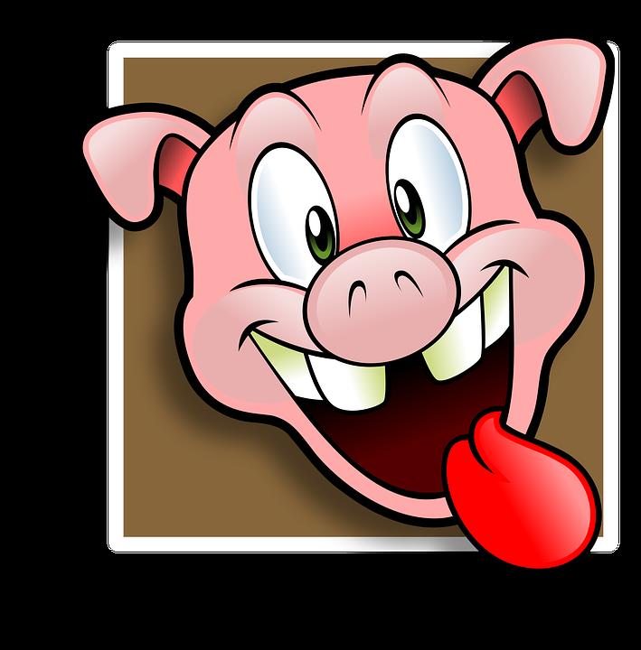 avatar happy pig free vector graphic on pixabay