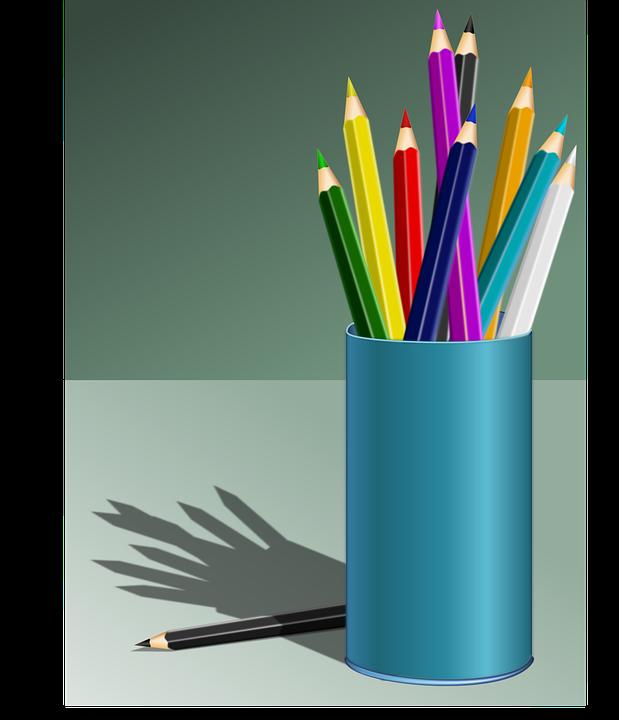 Warna Mewarnai Pensil Gambar Vektor Gratis Di Pixabay