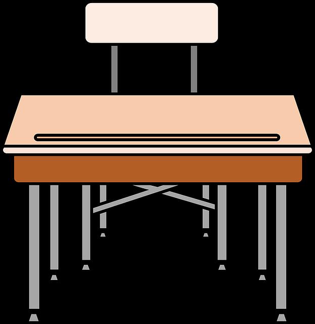 Tisch schule clipart  Kostenlose Vektorgrafik: Stuhl, Schreibtisch, Bildung ...
