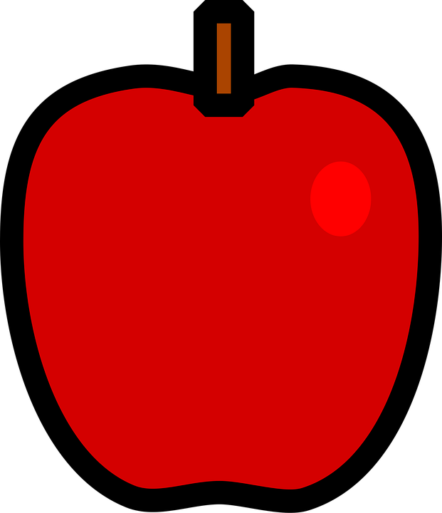 Apple fruit red free vector graphic on pixabay voltagebd Images