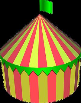 Zirkuszelt Zirkus Zelt Runde Bunte Festiva