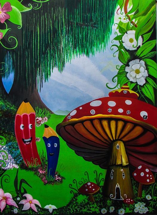 Taman Kanak Lukisan Dinding Gambar Gratis Di Pixabay